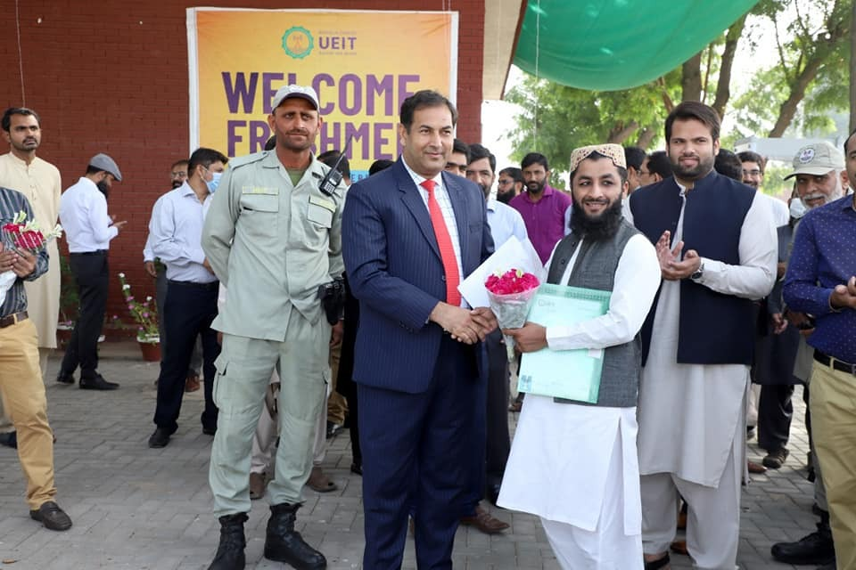Vice-chancellor Prof. Dr. Suleman Tahir gave job regularization letters to 10 employees from grades 01 to 11